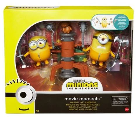 Minions: The Rise of Gru MARTIAL ARTS MINIONS Movie Moments Pack by Mattel