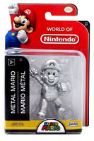 "World of Nintendo 2.5"" Metal Mario Vinyl Figure (with limited articulation) - from the world of Super Mario"