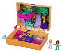 Polly Pocket Jungle Safari Compact, 2 Micro Dolls & Accessories