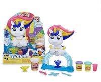 Play-Doh Tootie the Unicorn Ice Cream Set, 3 Cans of Color Swirl (8 oz)