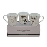 BEAUTIFUL HIPSTER CATEYES - Set of 3 Art Mugs - Jayson Brunsdon Home