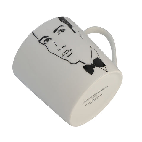 BOBBED  EARRINGS  BLACK TIE  - Set of 3 Art Mugs - Jayson Brunsdon Home