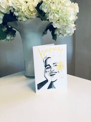 HAPPY 1 Greeting Card - Jayson Brunsdon Home