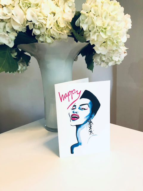HAPPY 2 Greeting Card
