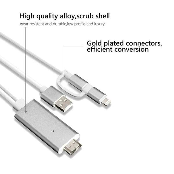 3in1 HDMI to Lightning cable