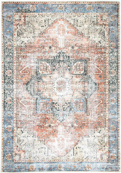 Distressed Vintage Cezanne Terracotta Sky Area Rug