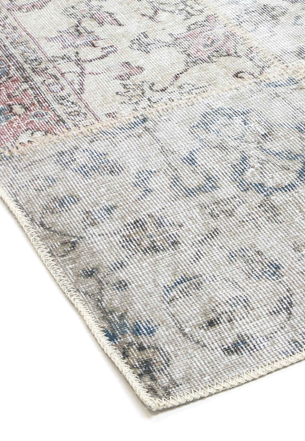 Distressed Vintage Pink Patch Area Rug