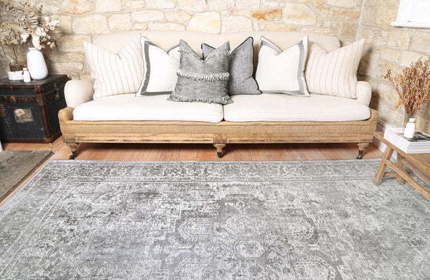 Distressed Vintage Chilaz Grey Rug