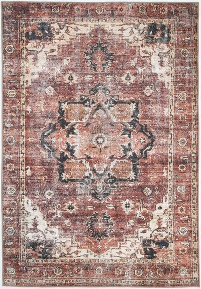 Distressed Vintage Cezanne Terracotta Area Rug