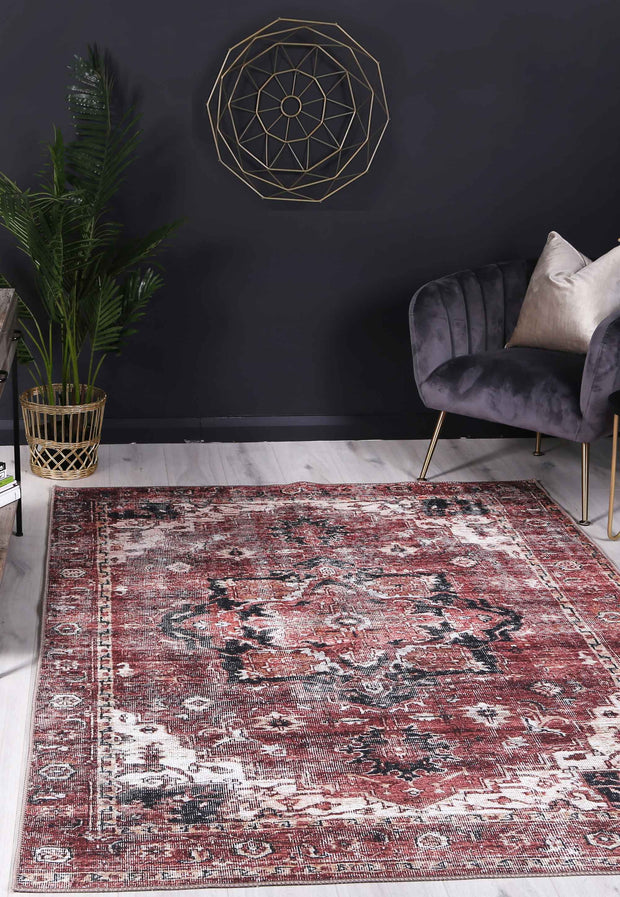 The Rug Collective­™ Distressed Vintage Cezanne Terracotta Area Rug