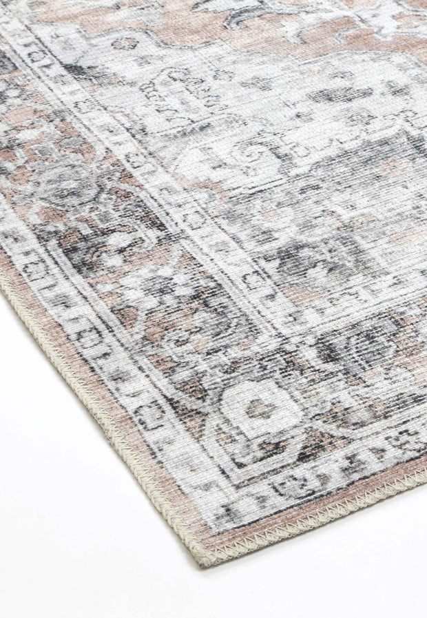 Distressed Vintage Cezanne Blush Runner