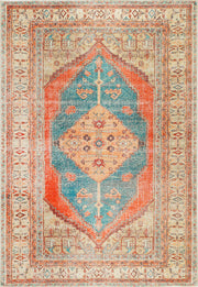 Distressed Louvre Rustic Blue Rug