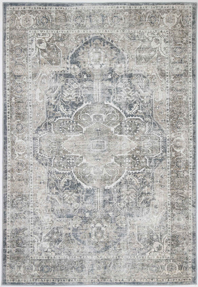 Distressed Vintage Kendra Ash Area Rug