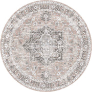 Distressed Vintage Cezanne Blush Round Rug