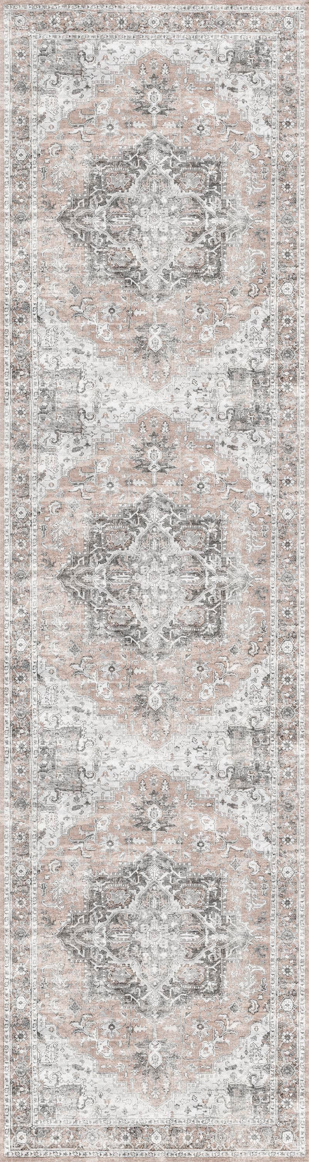 Distressed Vintage Cezanne Blush Area Rug