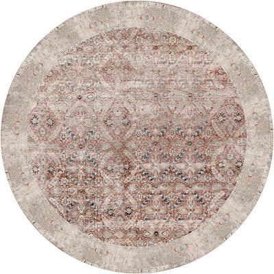 Distressed Vintage Levent Round Rug