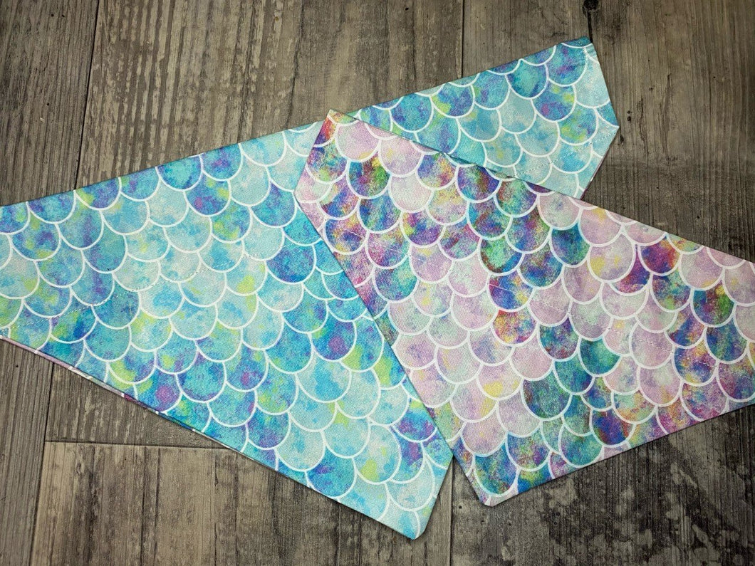 Reversible Mermaid Scale Bandana