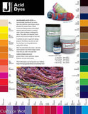 JACQUARD 1/2 oz Acid Dyes 40 colours