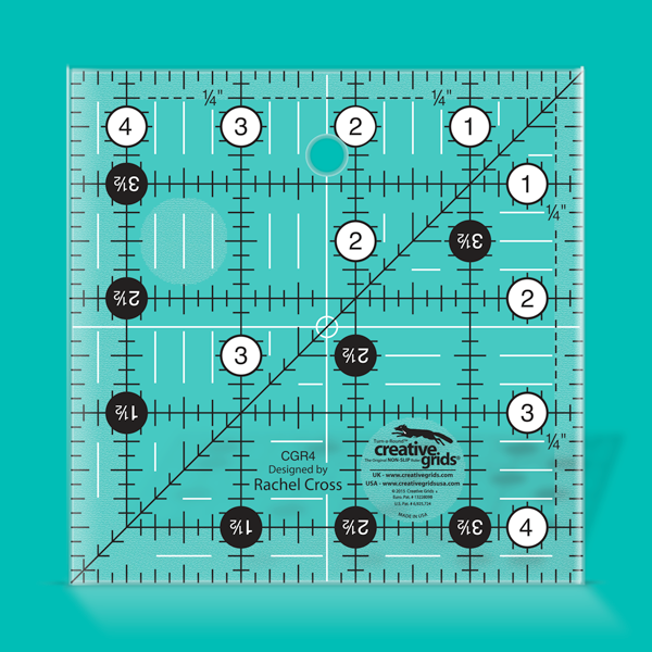 Creative Grids Quilt Ruler 4-1/2in Square CGR4
