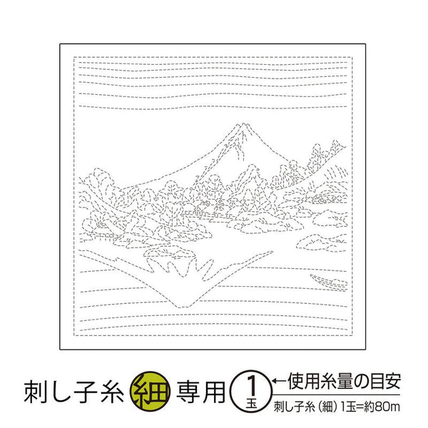 Sashiko Sampler H-1097 Seasonal Mt Fuji  White