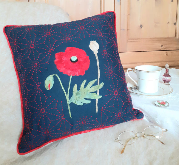 Poppy Cushion Kit Red