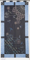 Sashiko Printed Panel Autumn Sky