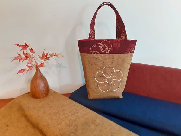 Tsumugi Sashiko Hand Bag Kit