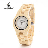 Newest Ladies Quartz Watches Octagon Natural Bamboo Watch Case Women's Brand in Wooden Box