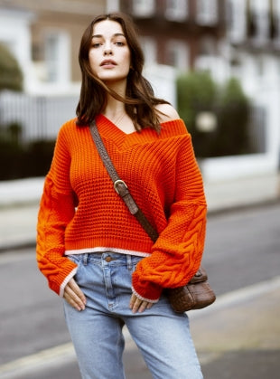 Bright Orange Jumper