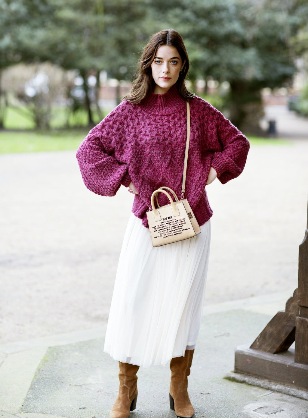 Berry knitted jumper