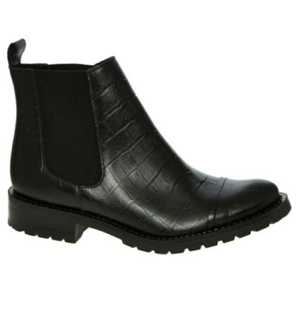 Leather Chelsea style Boots Reptile Effect