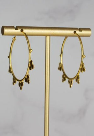 24ct gold plated hoops with spikes