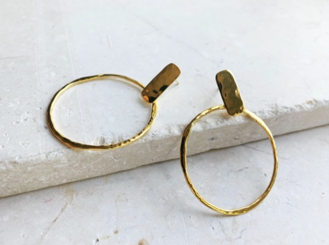 Hand Hammered hoops