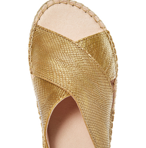 Fabiol Spain golden leather sandals