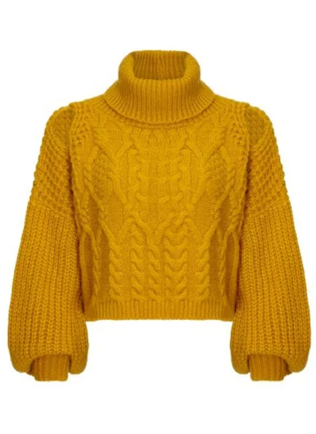 Knitted cropped jumper