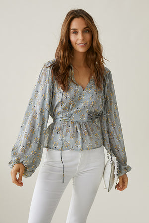 Renee Blouse- Sky