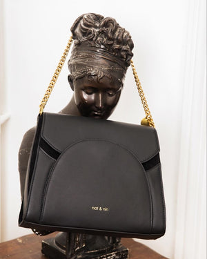 NAT AND NIN KAMILA BAG -BLACK