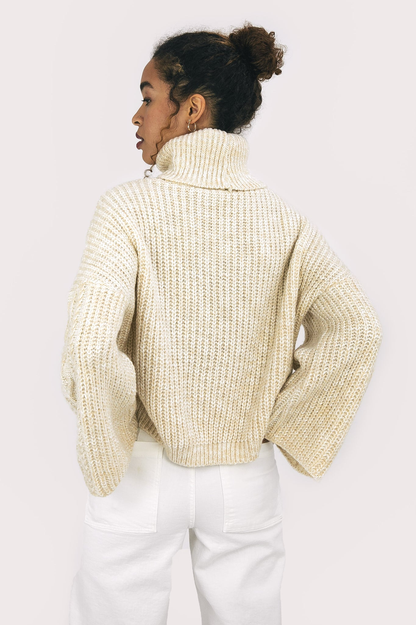 Ecru Roll Neck Jumper