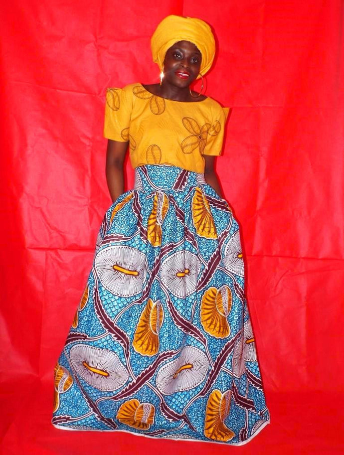 How to wear African Print skirts