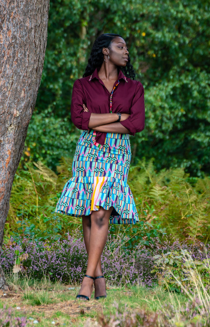 Candace Fit and Flare Skirt