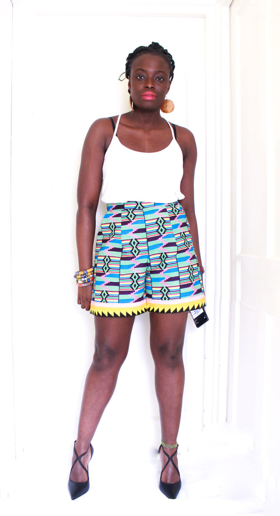 Cassie Kente Shorts