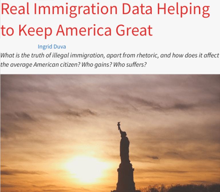 Real Immigration Data Helping to Keep America Great