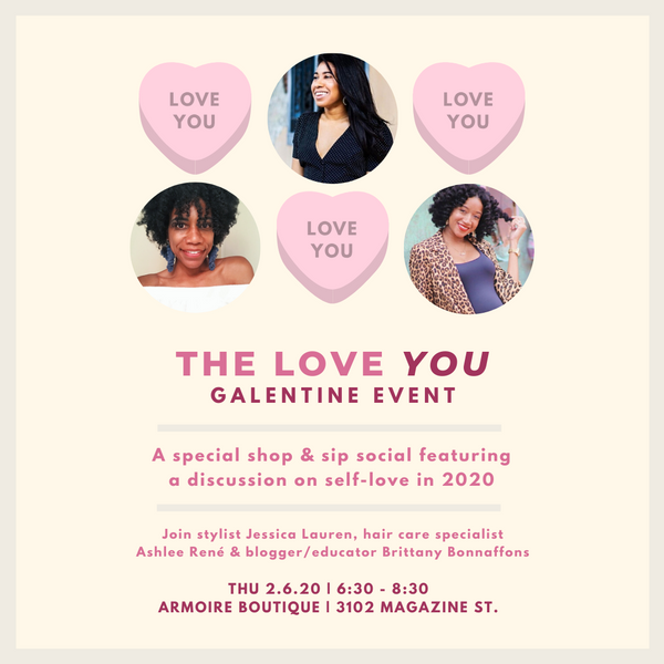 The Love YOU Galentine Event | A Special Shop & Sip Social