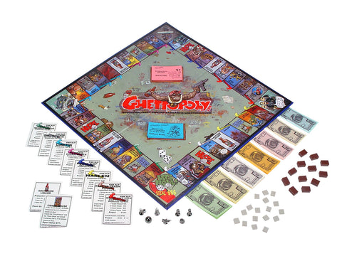 Ghettopoly Board Game ( Ultra Rare ) New. Still Shrink Wrapped. Get it while you can. Please note: After you click on ( ADD TO CART ) the check out button is located on the top right side of the web page.