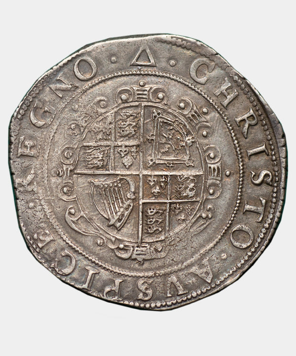 1639-40 Charles I, type 3a2 mm Triangle Halfcrown