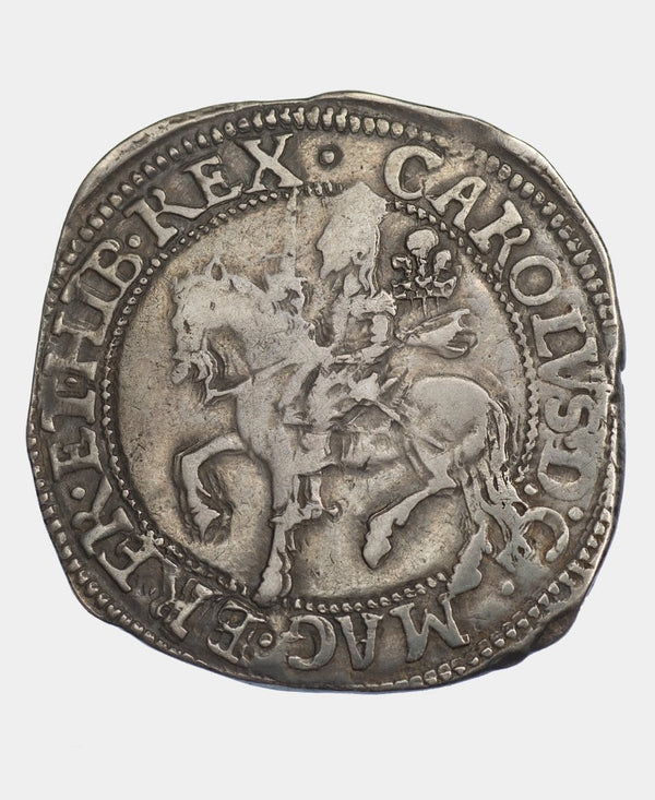 1642 CHARLES I SHREWSBURY 2 and 6 HALFCROWN