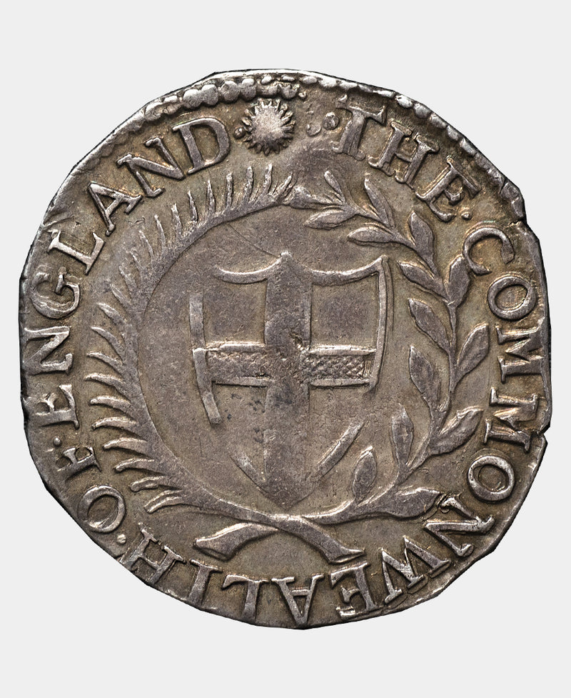1654 4 over 3 Commonwealth Shilling