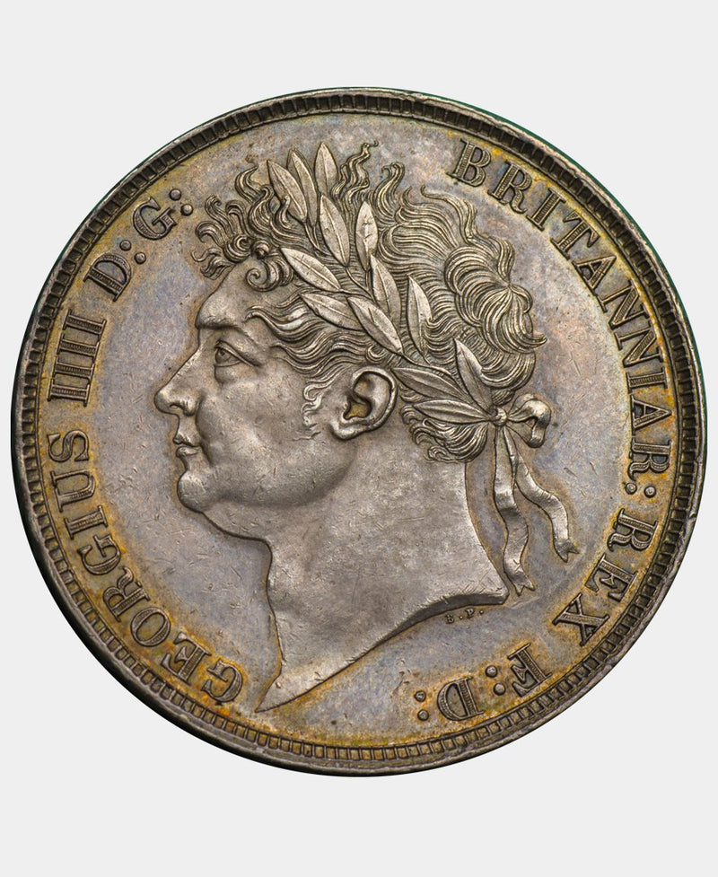 1821 George IV Secundo Crown with WWP inverted - Mhcoins