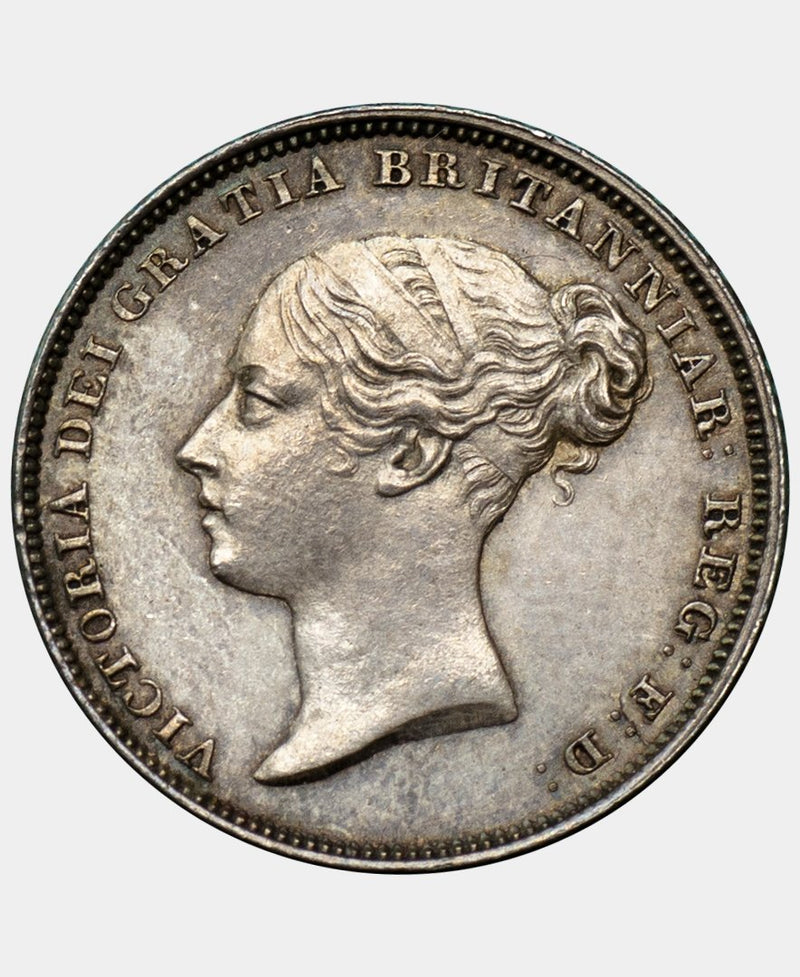 1838 Queen Victoria Young Head Sixpence