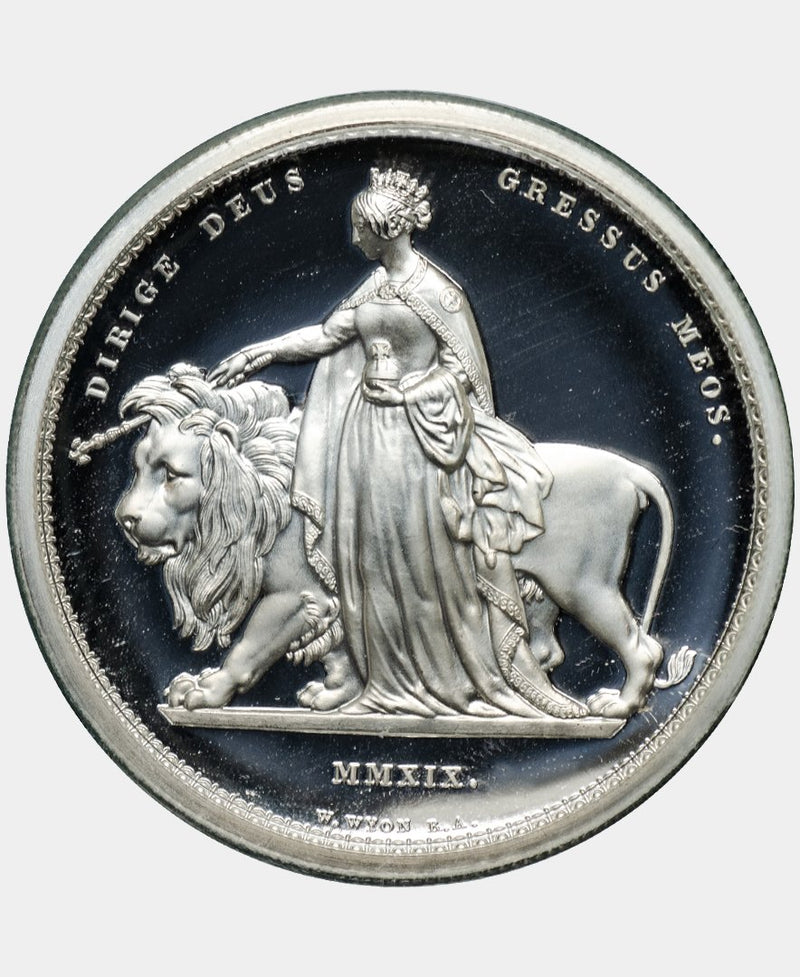 2019 Queen Elizabeth II Silver Proof Una and the Lion Five Pounds